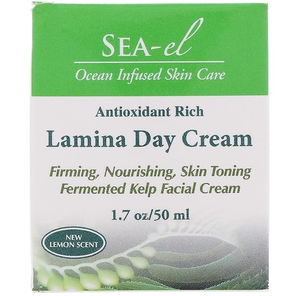 Sea el, Lamina Day Cream, New Lemon Scent, 1.7 oz (50 ml)