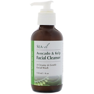 Sea el, Avocado & Kelp Facial Cleanser, 4 oz (118 ml)
