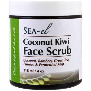 Sea el, Скраб для лица с кокосом и киви, 118 мл (4 унц.) инструкция, применение, состав, противопоказания