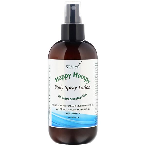 Happy Hempy, Body Spray Lotion, 8 oz (237 ml)