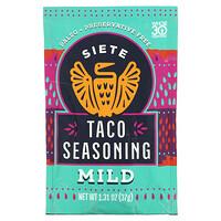 Siete, Taco Seasoning, Mild, 1.31 oz (37 g)