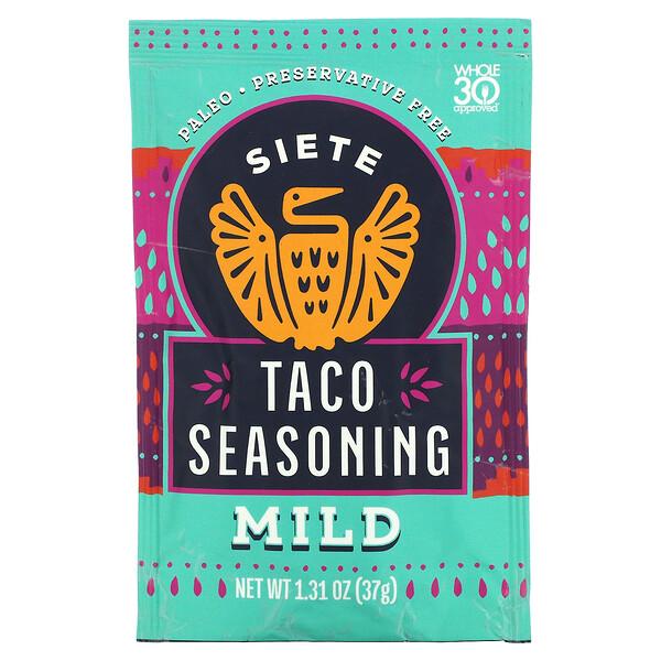 Taco Seasoning, Mild, 1.31 oz (37 g)