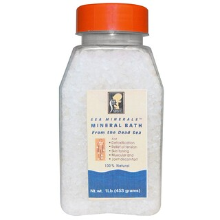 Sea Minerals, Mineral Bath from the Dead Sea, 1 lb (453 g)