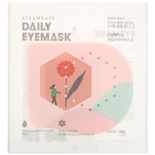 Steambase, Daily Eyemask, Rose Garden, 1 Mask