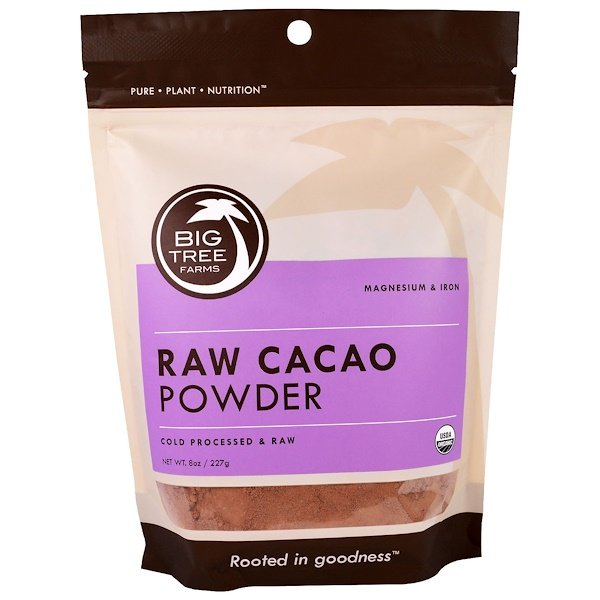 Big Tree Farms, Organic Raw Cacao Powder, 8 oz (227 g) (Discontinued Item)