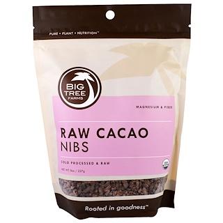 Big Tree Farms, Organic Raw Cacao Nibs, 8 oz (227 g)