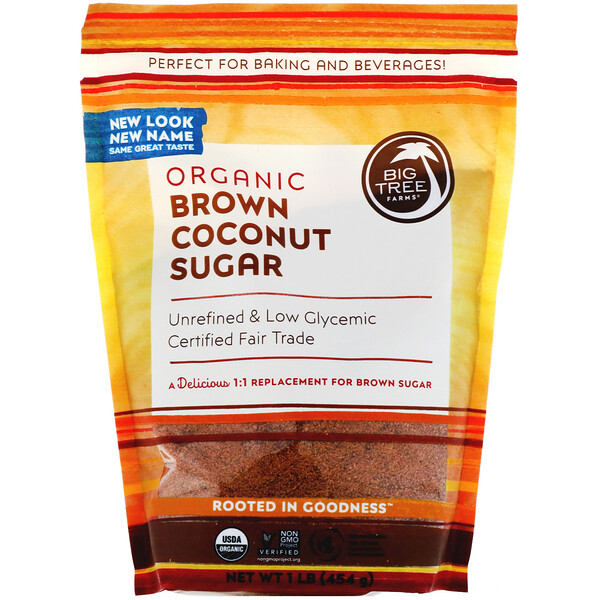 Organic Brown Coconut Sugar, 1 lb (454 g)