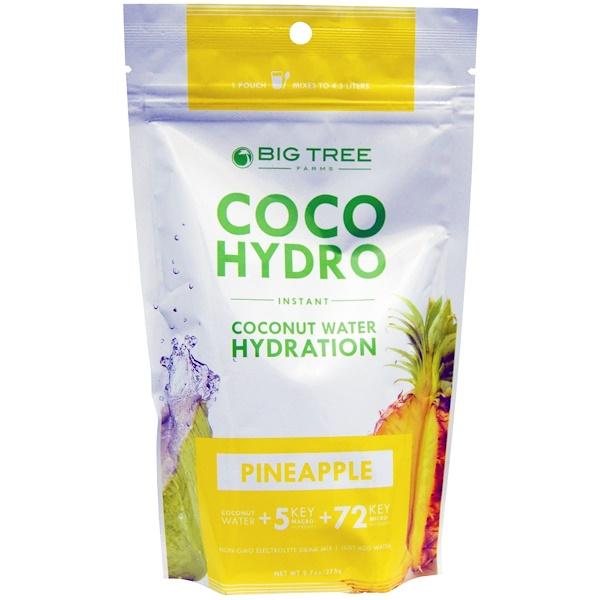 Big Tree Farms, Coco Hydro, Pineapple, 9.7 oz (275 g) (Discontinued Item)