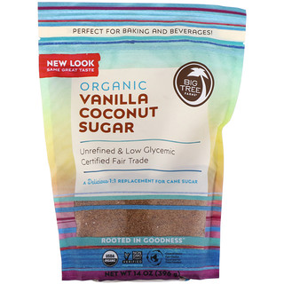 Big Tree Farms, Organic Coconut Sugar, Vanilla, 14 oz (397 g)