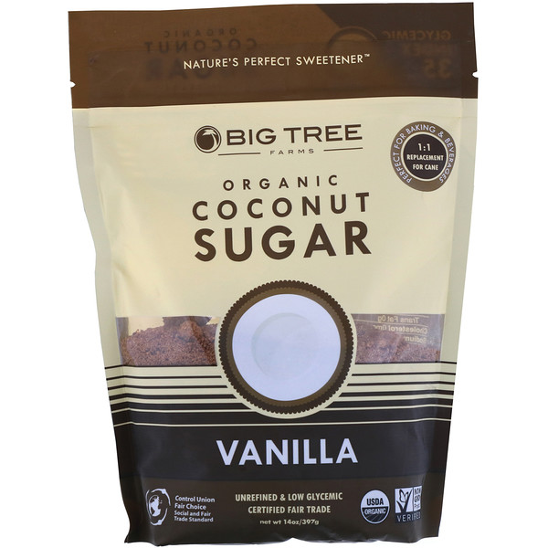 Big Tree Farms, Organic Coconut Sugar, Vanilla, 14 oz (397 g) (Discontinued Item)