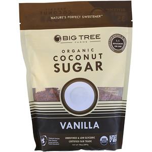 Биг Три Фармс, Organic Coconut Sugar, Vanilla, 14 oz (397 g) отзывы
