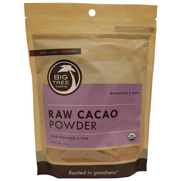 Big Tree Farms, Organic Raw Cacao Powder, 8 oz (227 g) (Discontinued Item)
