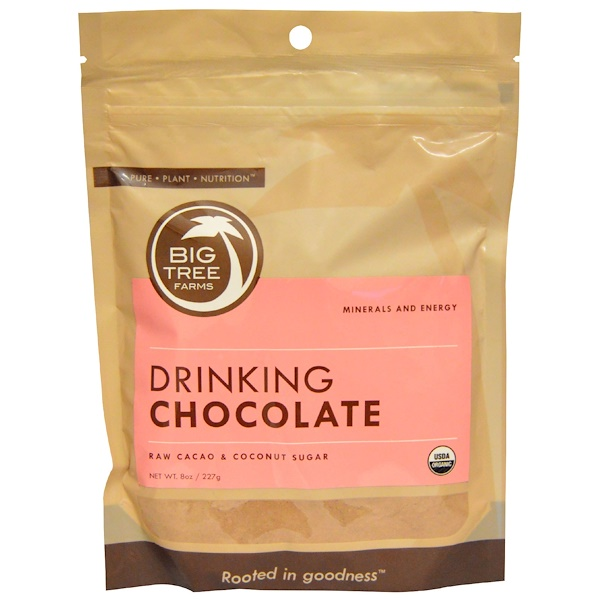 Big Tree Farms, Organic Drinking Chocolate, Raw Cacao & Coconut Sugar, 8 oz (227 g) (Discontinued Item)