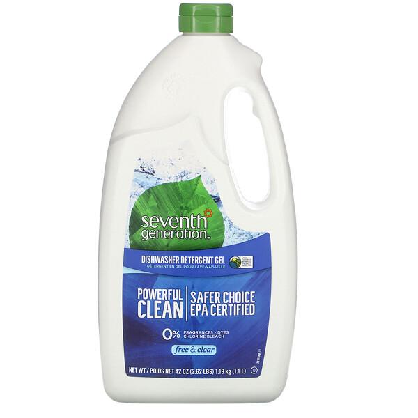 洗碗機洗滌凝膠,Free & Clear,42 盎司(1.19 千克)