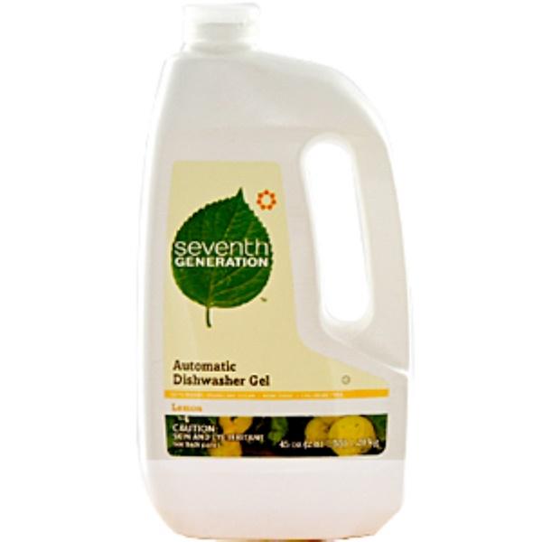 Seventh Generation, Automatic Dishwasher Gel, Lemon, 45 fl oz (2.81 Lbs) (Discontinued Item)