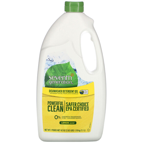 Seventh Generation, Dishwasher Detergent Gel, Lemon, 42 fl oz (1.19 kg)