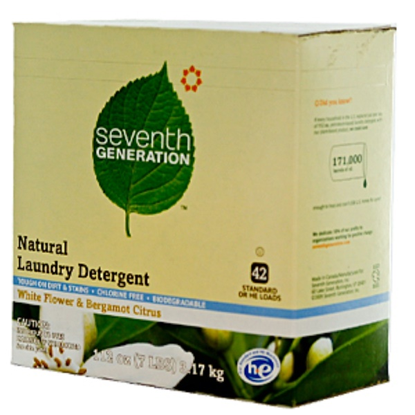 Seventh Generation, Natural Laundry Detergent, White Flower & Bergamot Citrus, 112 oz (317 kg) Powder (Discontinued Item)