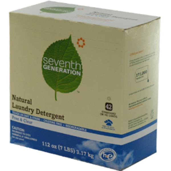 Seventh Generation, Natural Laundry Detergent, Free & Clear, 112 oz (3.17 kg) Powder (Discontinued Item)