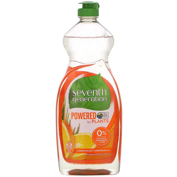 Dish Liquid, Clementine Zest & Lemongrass, 25 fl oz (739 ml)