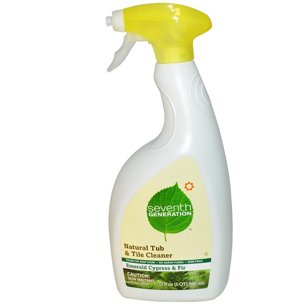 Seventh Generation, Natural Tub & Tile Cleaner, Emerald Cypress & Fir, 32 fl oz (946 ml) (Discontinued Item)