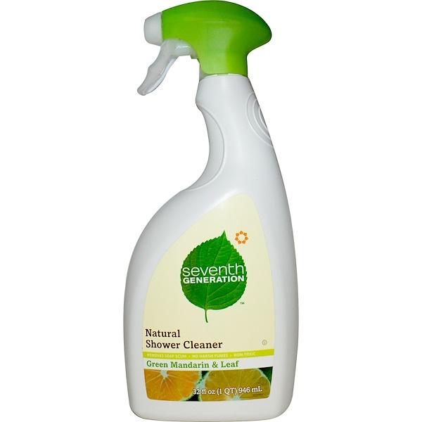 Seventh Generation, Natural Shower Cleaner, Green Mandarin & Leaf, 32 fl oz (946 ml) (Discontinued Item)