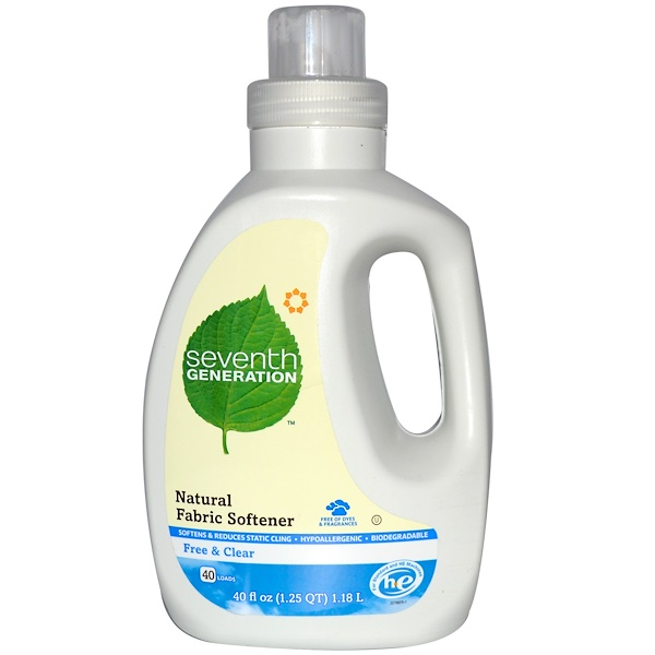 Seventh Generation, Natural Fabric Softener, Free & Clear, 40 fl oz (1.18 L) (Discontinued Item)
