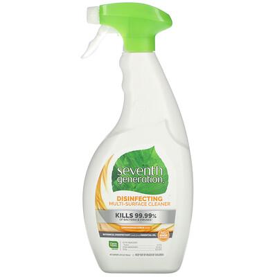 Seventh Generation Disinfecting Multi-Surface Cleaner, Lemongrass Citrus Scent, 26 fl oz (768 ml)