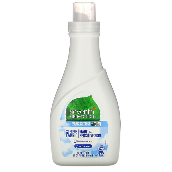 Seventh Generation, Fabric Softener, Free & Clear, 32 fl oz (946 ml)