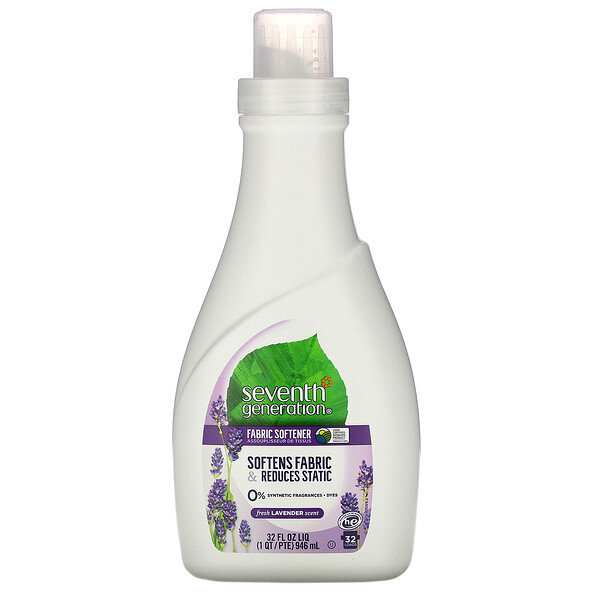 Seventh Generation, Fabric Softener,  Fresh Lavender, 32 fl oz (946 ml)