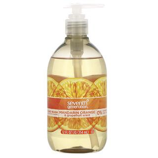 Seventh Generation, Hand Wash, Mandarin Orange & Grapefruit, 12 fl oz (354 ml)