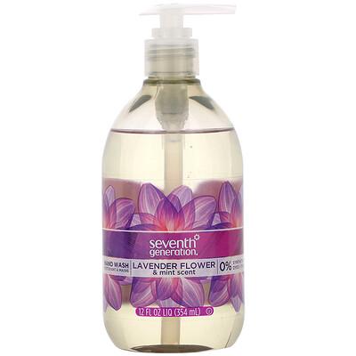 Купить Seventh Generation Hand Wash, Lavender Flower & Mint, 12 fl oz (354 ml)