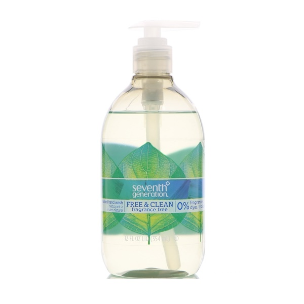 Seventh Generation, 天然洗手液,自由潔淨,不含香精,12 fl oz (354 ml)