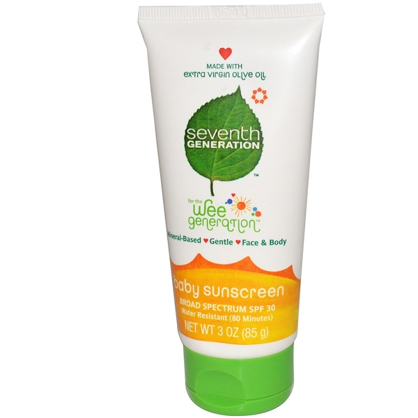 Seventh Generation, For The Wee Generation, Baby Sunscreen, SPF 30, 3 oz (85 g) (Discontinued Item)