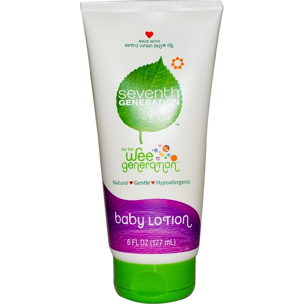 Seventh Generation, For The Wee Generation, Baby Lotion, 6 fl oz (177 ml) (Discontinued Item)