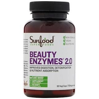 Sunfood, Beauty Enzymes 2.0, 700 mg, 90 Vegi Caps
