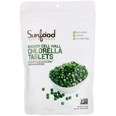 Купить Хлорелла с разрушенной клеточной оболочкой в таблетках, 250мг, 912таблеток, 227г (8унций)