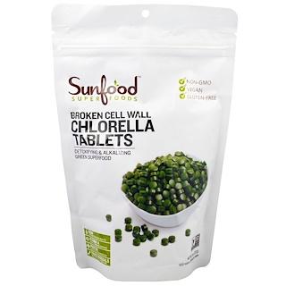 Sunfood, Nutrient-Rich Chlorella Tablets, 250 mg, 900 Tablets, 8 oz (227 g)