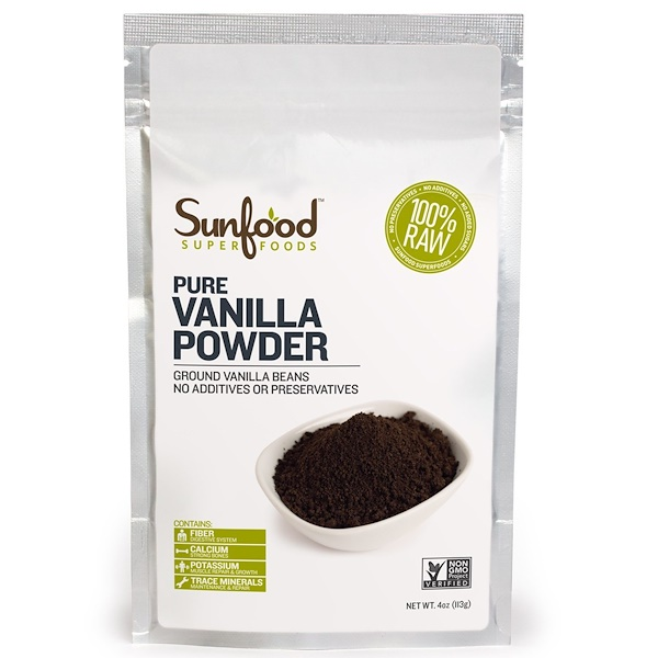 Sunfood, Pure Vanilla Powder, Farm Grown , 4 oz (113 g) (Discontinued Item)