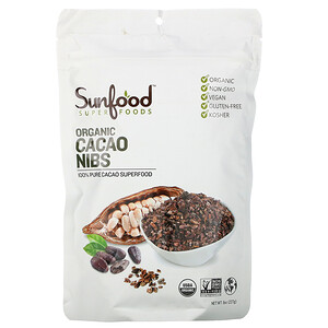 Санфуд, Chocolate Cacao Nibs, 8 oz (227 g) отзывы покупателей