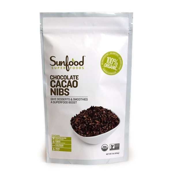 Sunfood, Chocolate Cacao Nibs, 1 lb (454 g) (Discontinued Item)