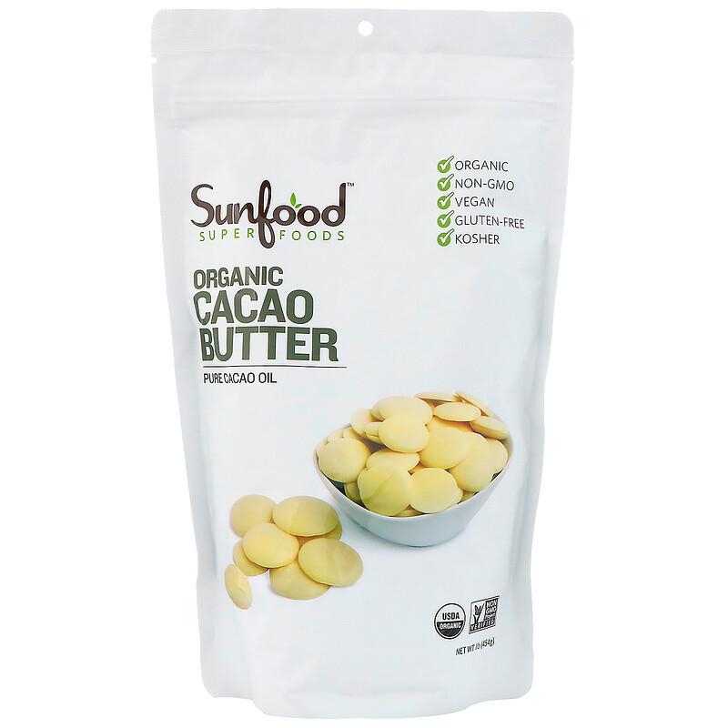 Organic Cacao Butter, 1 lb (454 g)