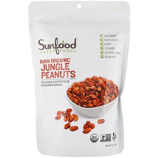 Sunfood, Raw Organic Jungle Peanuts, 8 oz (227 g)