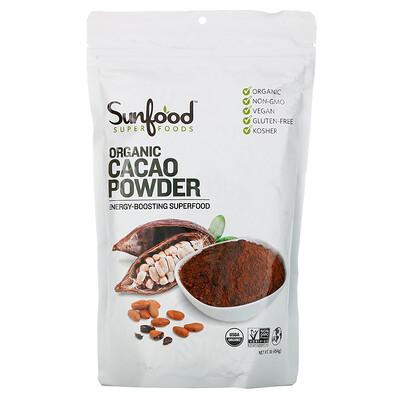 Купить Sunfood Органический какао-порошок, 454г (1фунт)