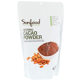 Sunfood, Organic Cacao Powder, 1 lb (454 g)