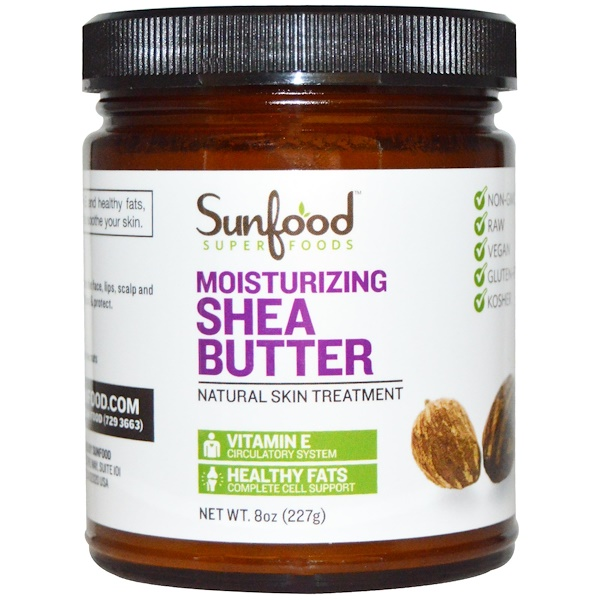 Sunfood, Увлажняющее масло ши, 8 унций (227 г)