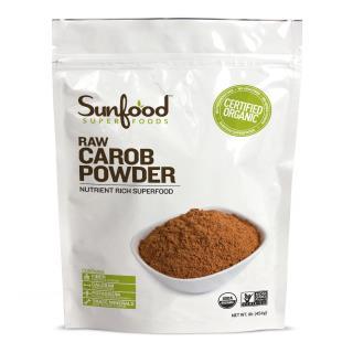 Sunfood, Organic Carob Powder, Raw,  1 lb (454 g)