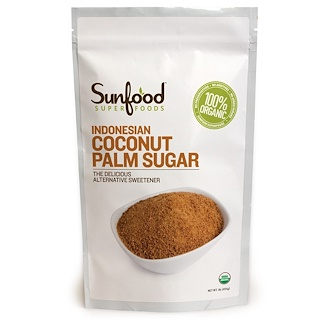 Sunfood, Indonesian Coconut Palm Sugar, 454 g