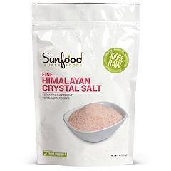 Sunfood, بلورات ملح فاخر من الهامالايا، 1 باوند (454 غرام)