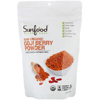 Sunfood, Raw Organic Goji Berry Powder, 8 oz (227 g)