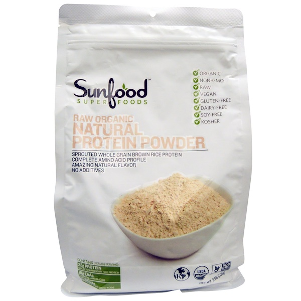 Sunfood, Raw Organic Natural Protein Powder, 2.5 lbs (1.13 kg) (Discontinued Item)